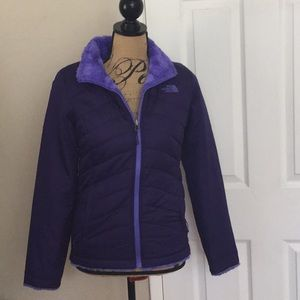 North Face reversible fitted Purple jacket fur XS